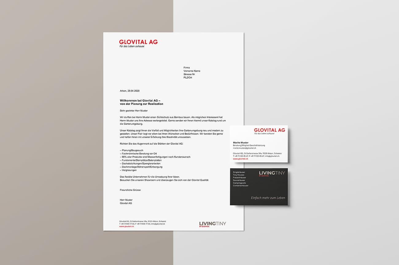 Briefschaften Glovital AG