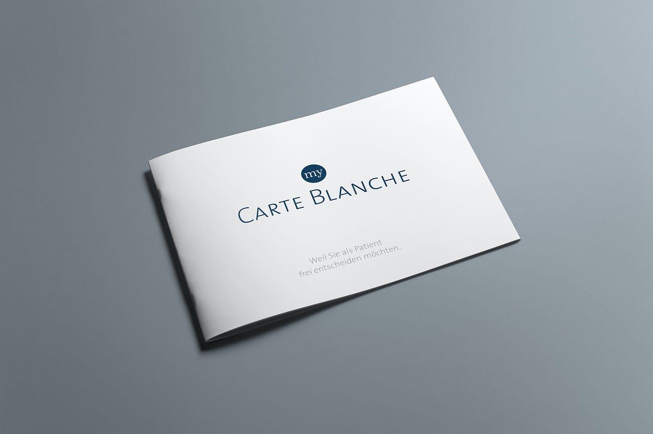 Ärztebroschüre my Carte Blanche Mediconsult AG