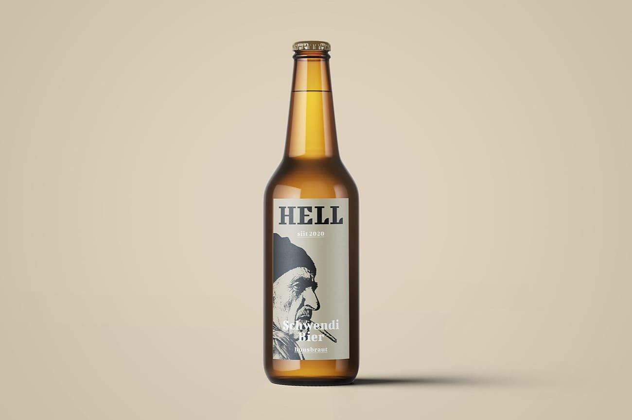 Etikette Schwendi Bier