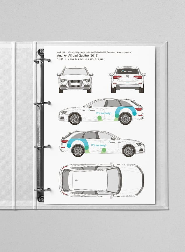 Fahrzeugbeschriftung für inconet technology gmbh. Print, Branding.