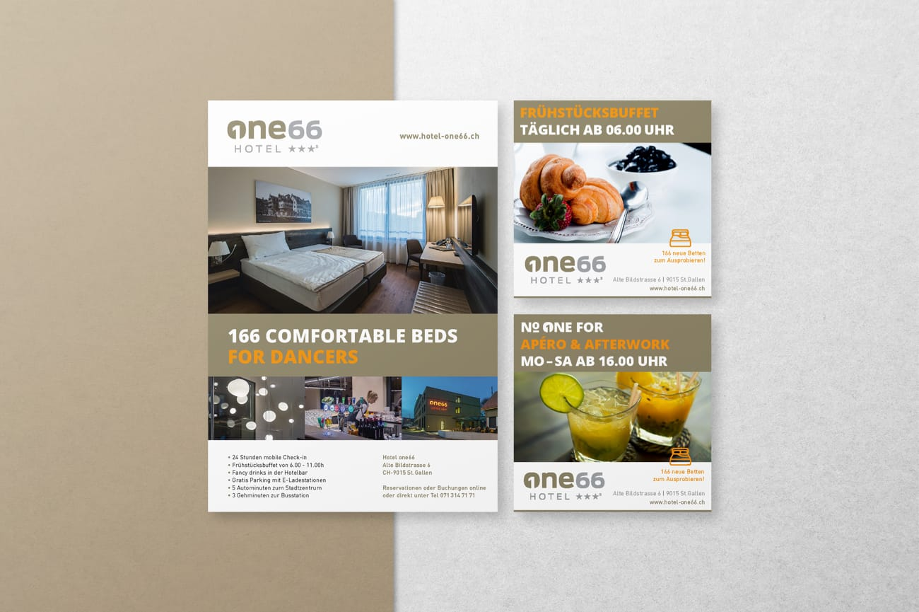 Inserate Hotel one66 AG