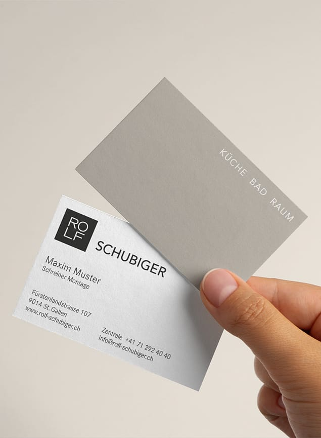 Visitenkarte Rolf Schubiger Küchen