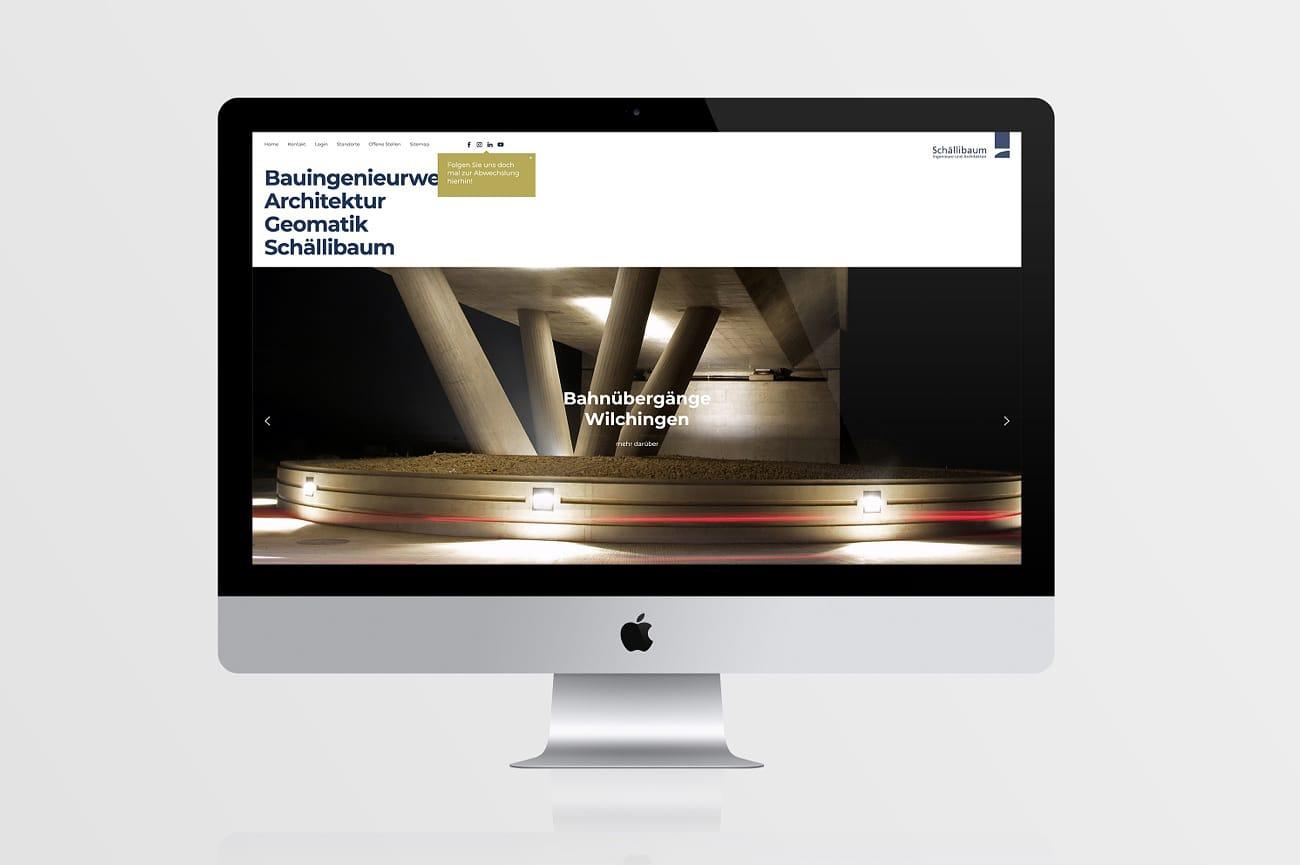 Website Schällibaum AG