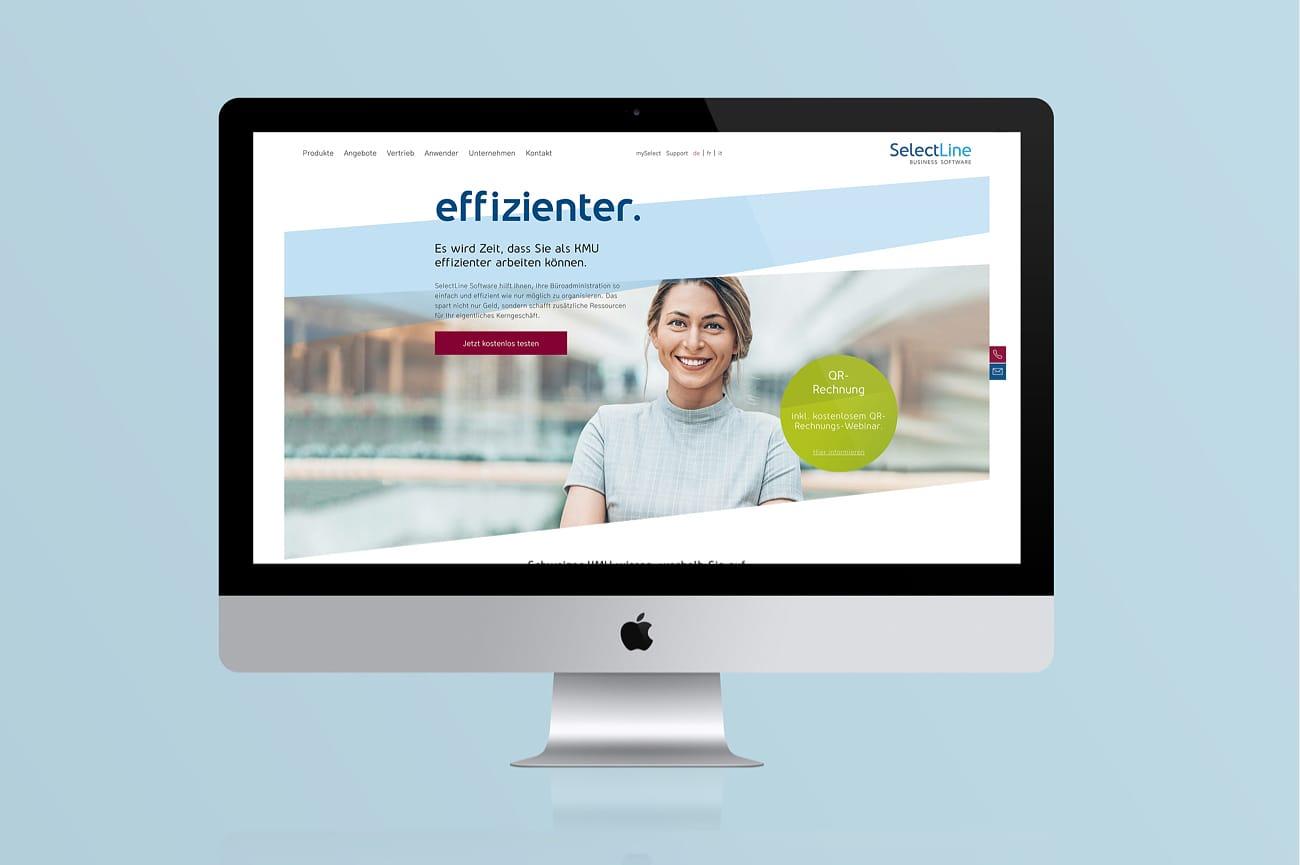 Website SelectLine Software AG