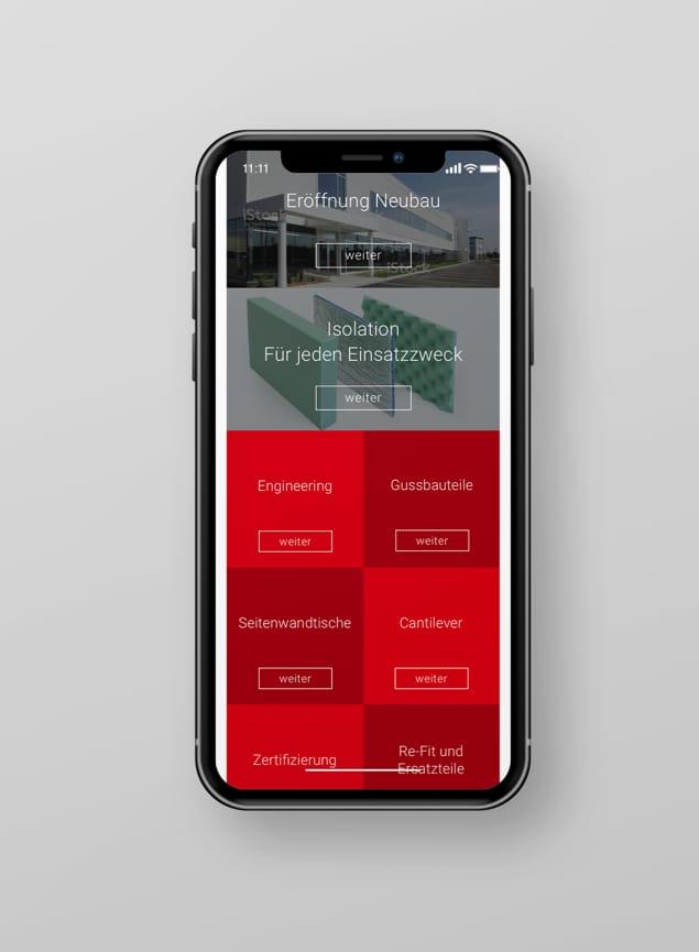 Menü Mobile Website SSC Swiss Shielding Corporation AG