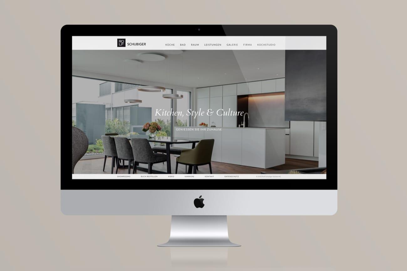 Website Rolf Schubiger Küchen