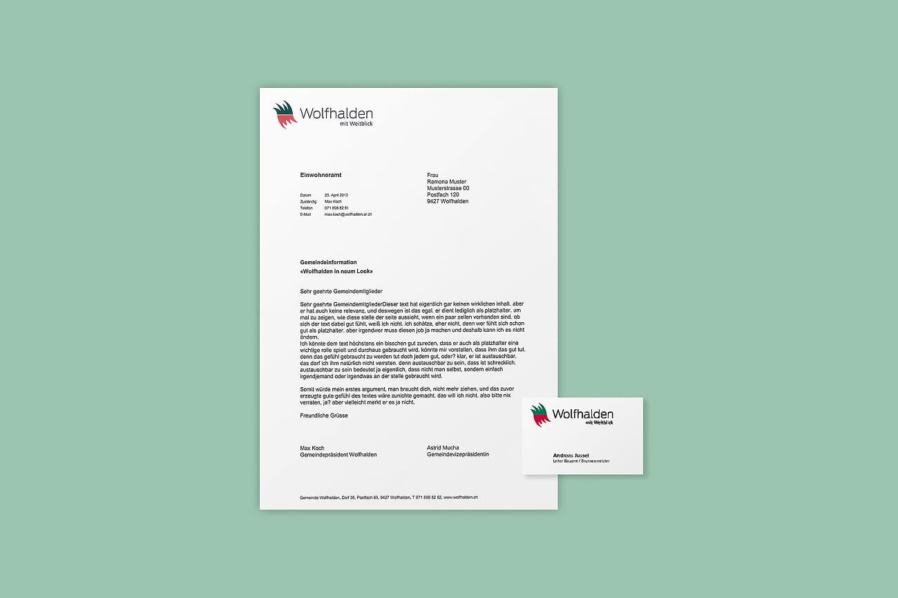 Briefschaften Gemeinde Wolfhalden